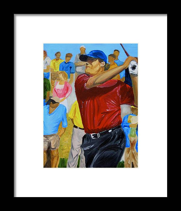 Golf Framed Print featuring the painting Four by Michael Lee