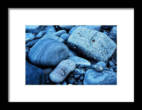 Rock Framed Print featuring the photograph Four Rocks In Blue by Weston Westmoreland