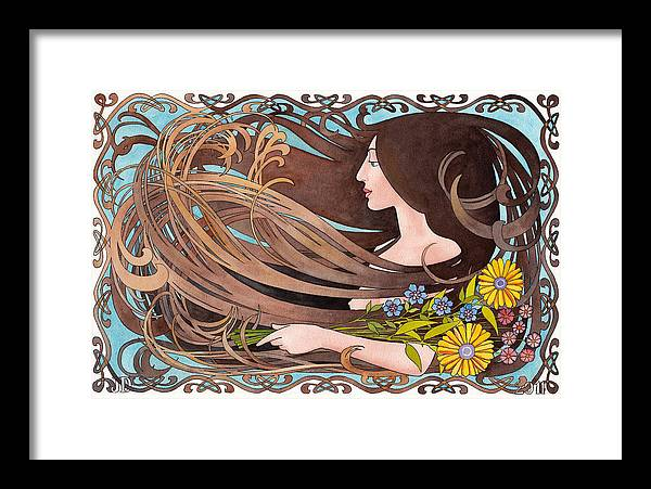 Figure Framed Print featuring the painting Four Seasons Summer by Jonathan Day