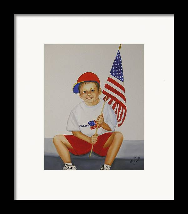Holiday Framed Print featuring the painting Fourth Of July by Joni McPherson