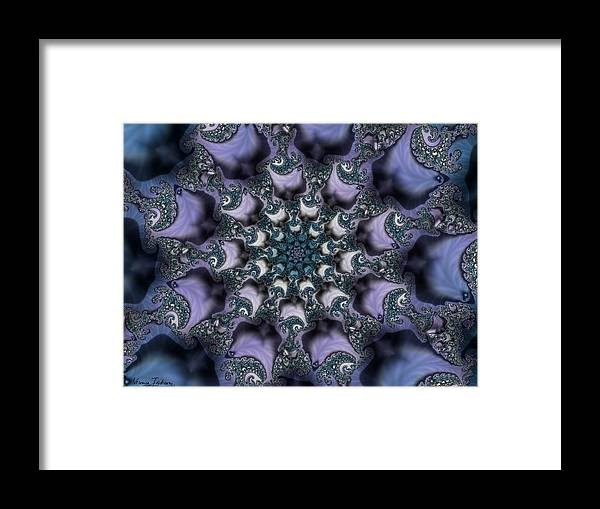 Fractal Rose Blossom Nature Life Organic Framed Print featuring the digital art Fractal 1 by Veronica Jackson