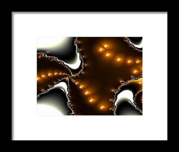 Nest Eggs Fractals Jewels Framed Print featuring the digital art Fractal 2 by Veronica Jackson