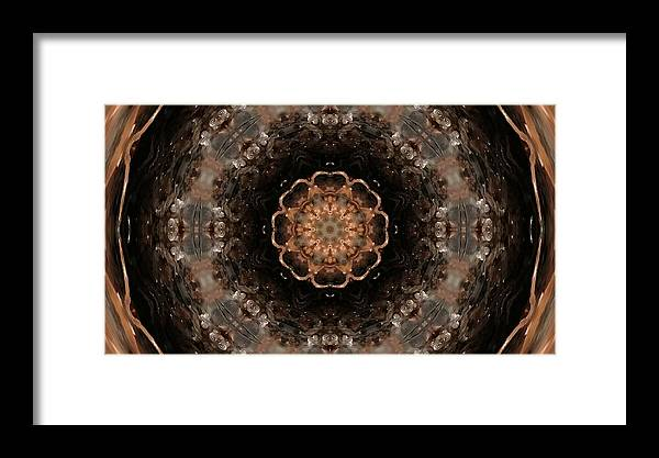 Fractal Framed Print featuring the digital art Fractal 4 by Belinda Cox