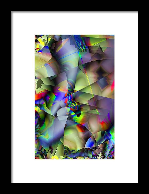 Fractal Framed Print featuring the digital art Fractal Cubism by Ron Bissett