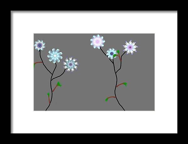 Digital Painting Framed Print featuring the digital art Fractal Floral 10-21-09 by David Lane