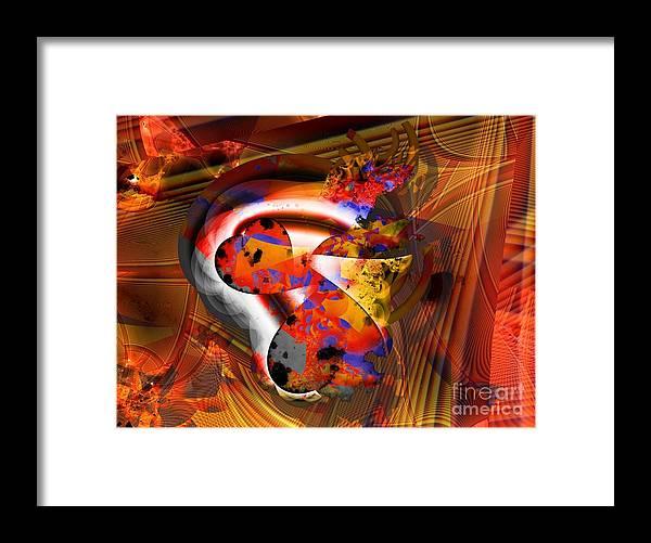 Heart Framed Print featuring the digital art Fractal Heart by Ron Bissett