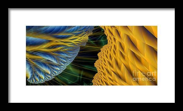 Lightning Framed Print featuring the digital art Fractal Storm by Ron Bissett