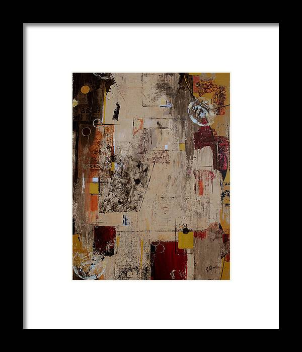 Abstract Framed Print featuring the painting Fractions by Ruth Palmer