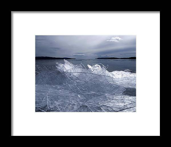 Ice Framed Print featuring the photograph Fractured by Tim Beebe