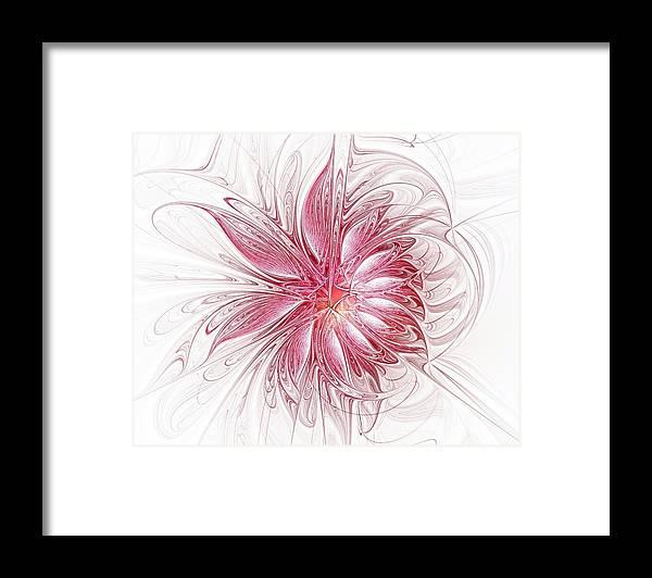 Digital Art Framed Print featuring the digital art Fragile by Amanda Moore