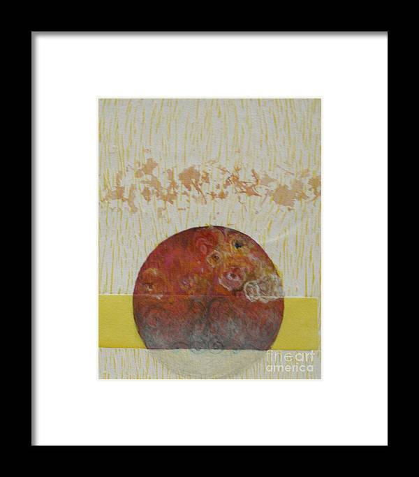 Framed Print featuring the drawing Fragile Conditioning- 4 by Asma Hashmi