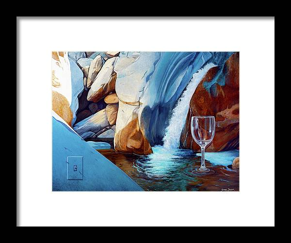 Landscape Framed Print featuring the painting Fragile Moments by Snake Jagger
