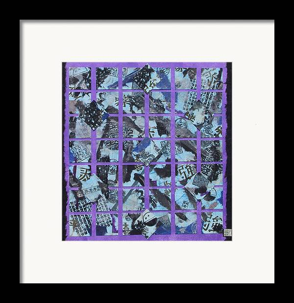 Mixed Media Framed Print featuring the mixed media Fragmented by Michele Caporaso