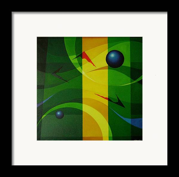 Geometric Abstract Framed Print featuring the painting Fragments Of A Soul - 2 by Alberto DAssumpcao