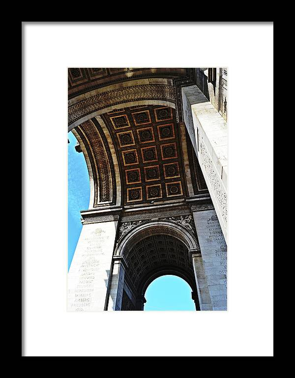 France Framed Print featuring the photograph France Triumph Monument by HazelPhoto