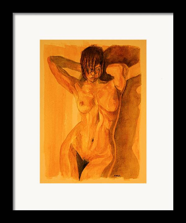 Female Nude Framed Print featuring the painting Francesca by Dan Earle