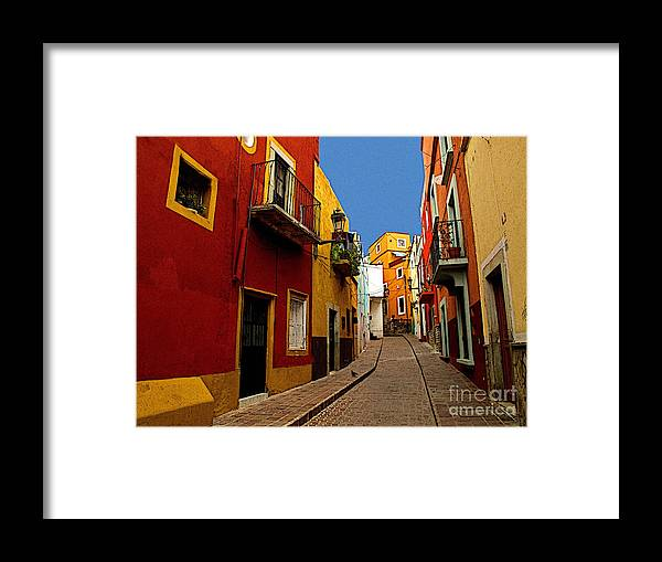 Darian Day Framed Print featuring the photograph Francesca's Street by Mexicolors Art Photography