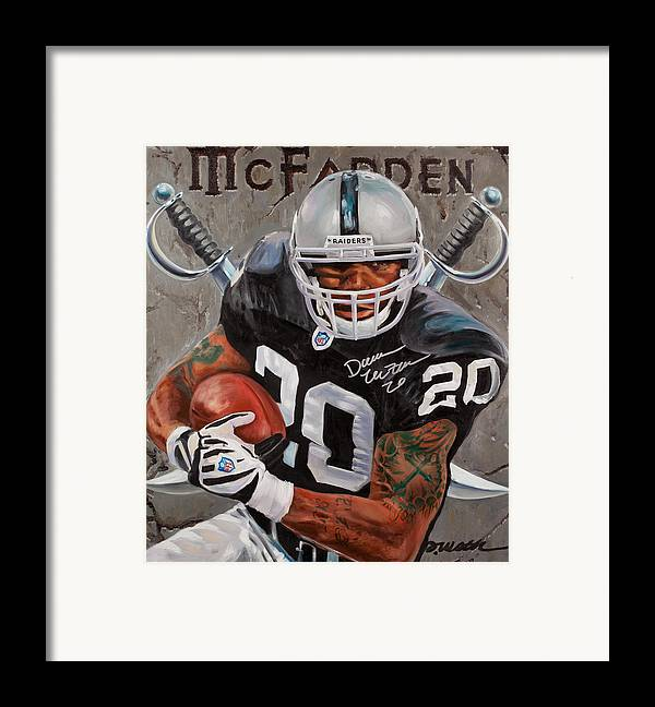 Darren Mcfadden Framed Print featuring the painting Franchise by Jim Wetherington