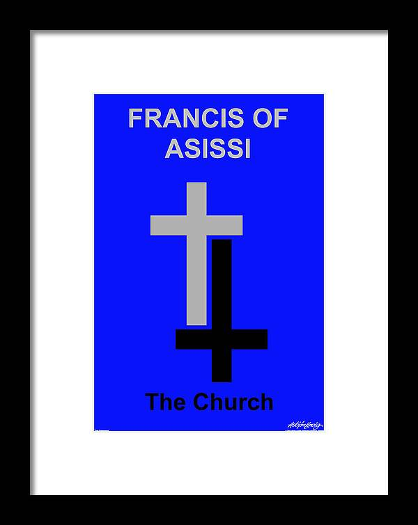 Francis Of Asissi Framed Print featuring the digital art Francis Of Asissi by Asbjorn Lonvig