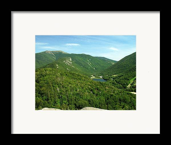 Nature Framed Print featuring the photograph Franconia Notch by Eric Workman