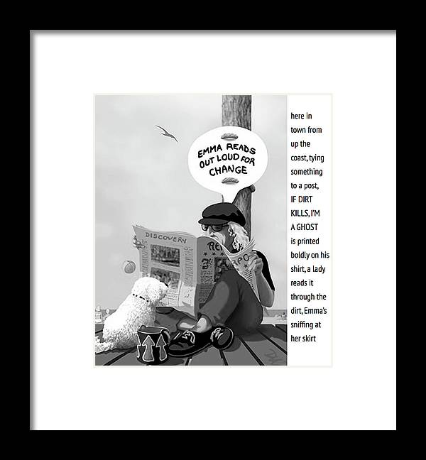 Panhandler Framed Print featuring the digital art Frank and Emma by Tom Dickson