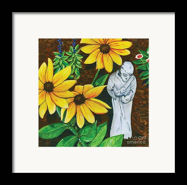 St. Francis Framed Print featuring the painting Frank And Susan by Laura Brightwood