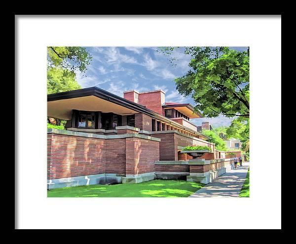 Frank Lloyd Wright Robie House Framed Print By Christopher