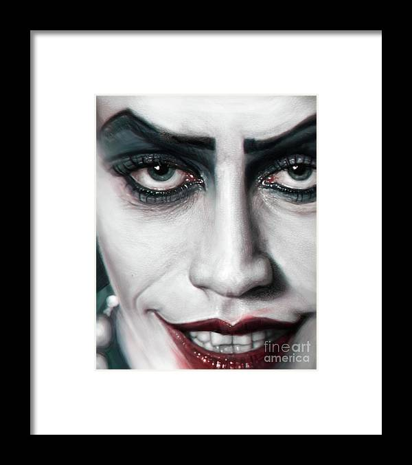 Frank N Furter Framed Print featuring the digital art Frank N Furter by Andre Koekemoer