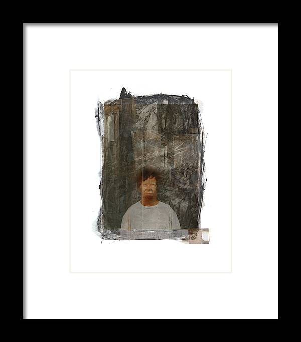 Portrait Framed Print featuring the digital art Frank by Nuff