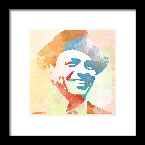 Frank Sinatra Framed Print featuring the painting Frank Sinatra by Naxart Studio