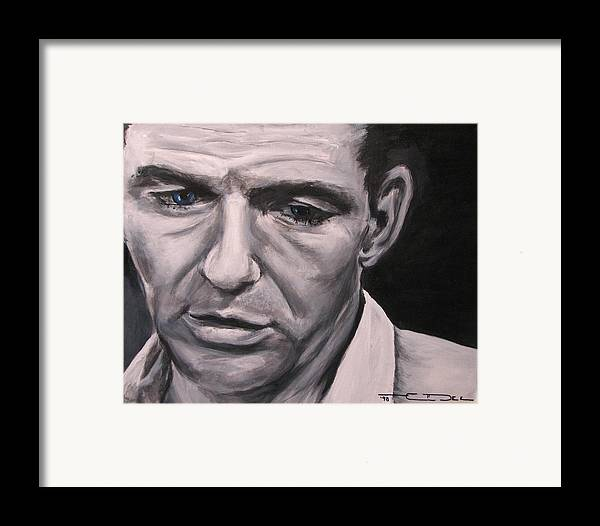 Celebrity Portrait Framed Print featuring the painting Frank With The Golden Arm by Eric Dee