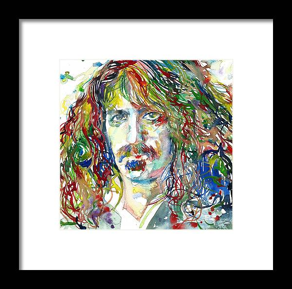 Frank Zappa Framed Print featuring the painting Frank Zappa by Fabrizio Cassetta