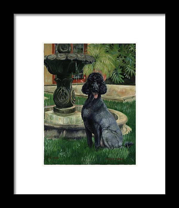 Portrait Framed Print featuring the painting Frankie by Eileen Hale
