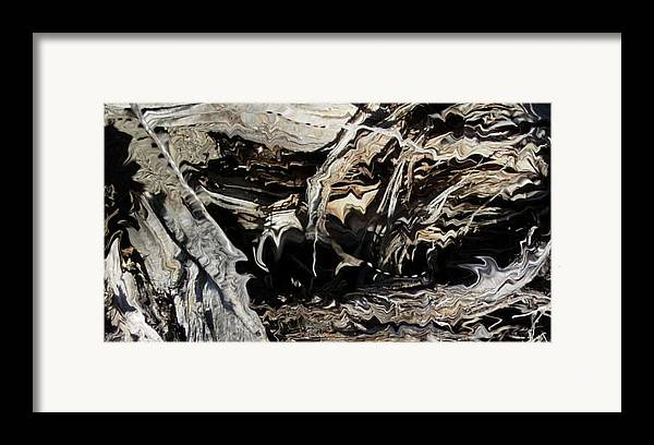 Abstract Art Framed Print featuring the photograph Frayed And Distracted Thoughts by Stephanie H Johnson