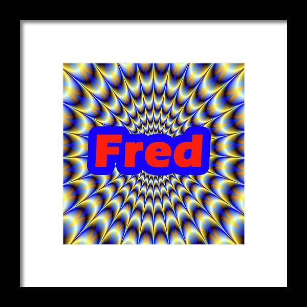 Men Framed Print featuring the digital art Fred by Mitchell Watrous
