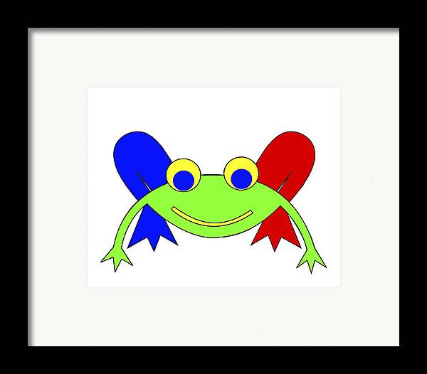 Frederic The Frog. Frederic Framed Print featuring the digital art Frederic The Frog by Asbjorn Lonvig