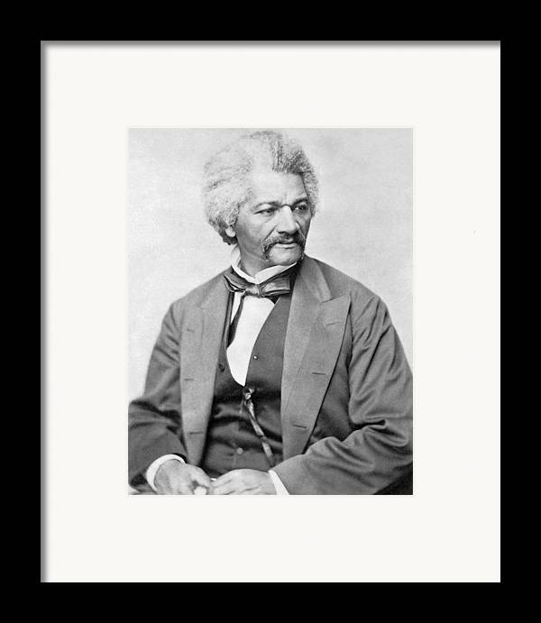 Frederick Douglass Framed Print featuring the photograph Frederick Douglass by War Is Hell Store