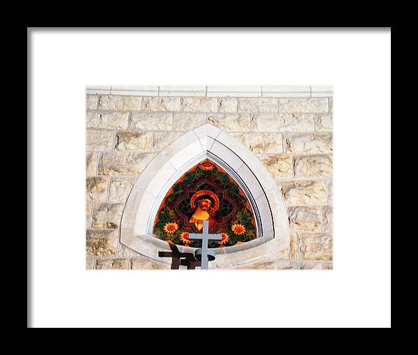 Cross Framed Print featuring the photograph Fredericksburg Cross by Ana Villaronga