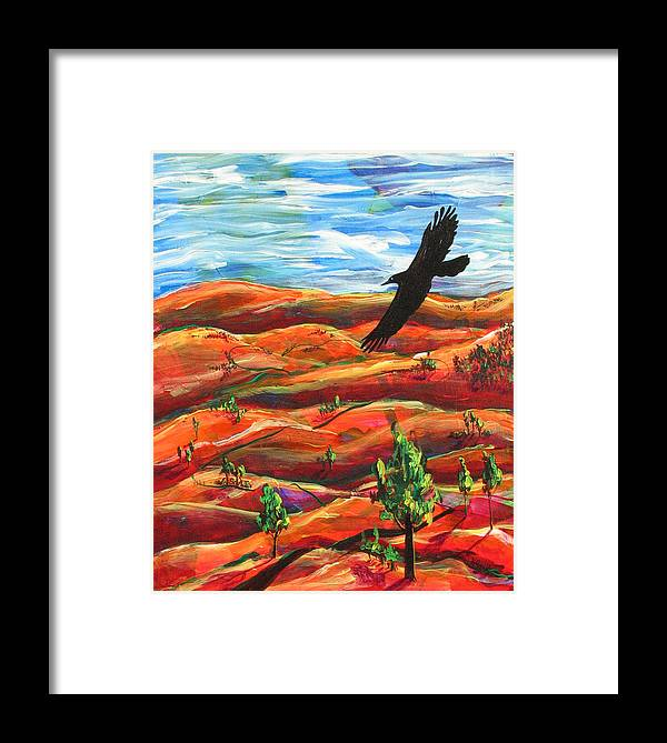 Bird Framed Print featuring the painting Free As A Bird by Rollin Kocsis