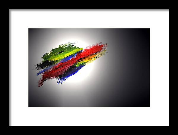 Abstract Framed Print featuring the painting Free Form by Adam Wells