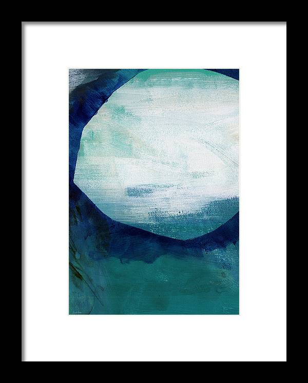 Blue Framed Print featuring the painting Free My Soul by Linda Woods