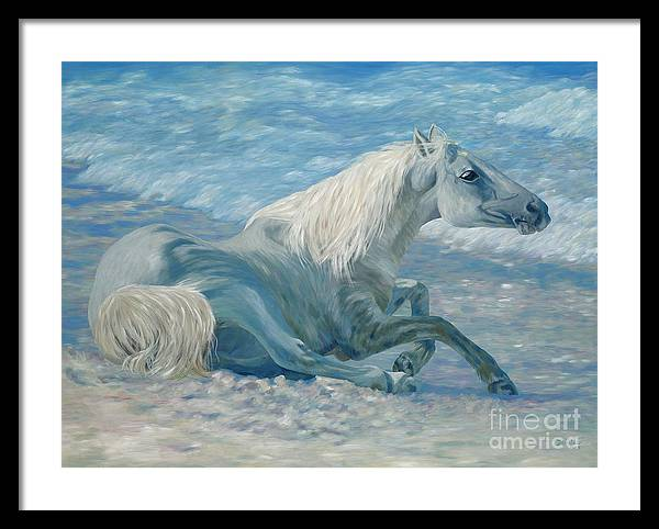 Seascape Framed Print featuring the painting Free Spirit by Danielle Perry