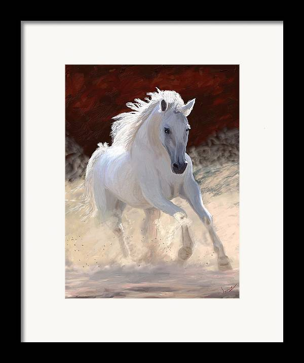 Horse Framed Print featuring the painting Free Spirit by James Shepherd