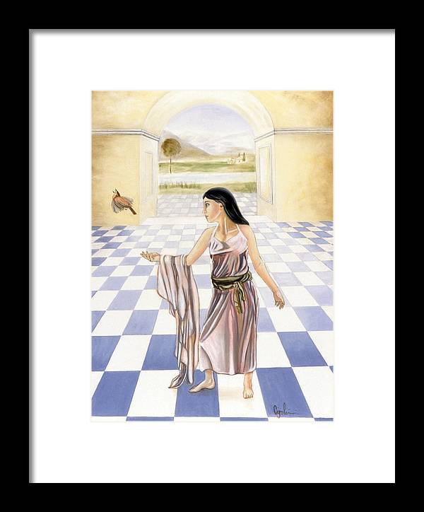 Figurative Framed Print featuring the painting Free To Fly by Gloria Cigolini-DePietro