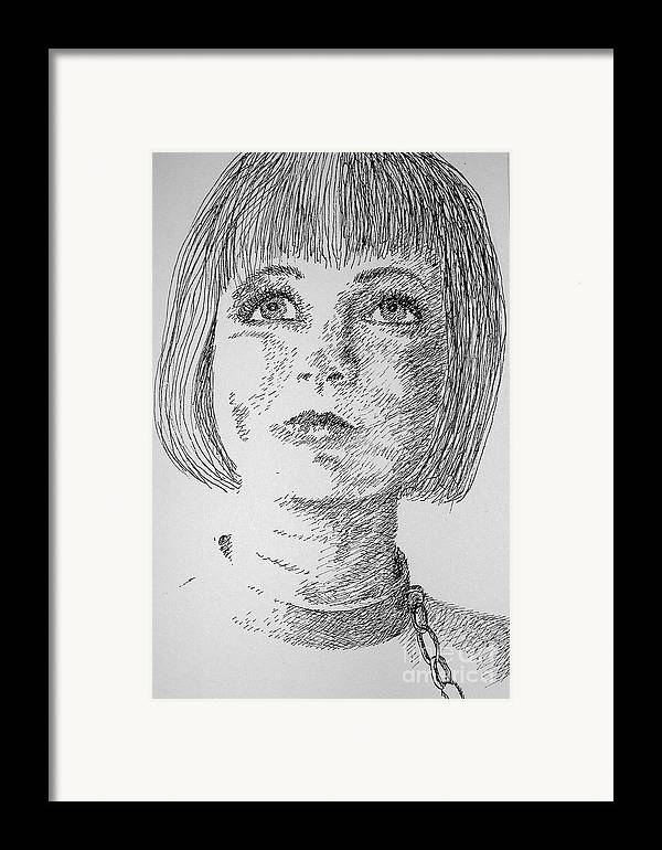 Philosophical Thoughts Framed Print featuring the drawing Free Will by Tanni Koens