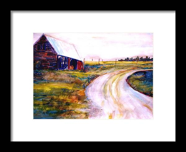 Barn Framed Print featuring the painting Freedman Farm by Joyce Kanyuk