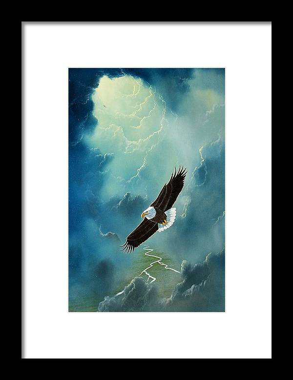 Eagle Framed Print featuring the painting Freedom by Don Griffiths