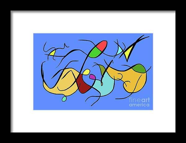 Freedom Color Art Abstract Framed Print featuring the digital art Freedom by Derek Squared