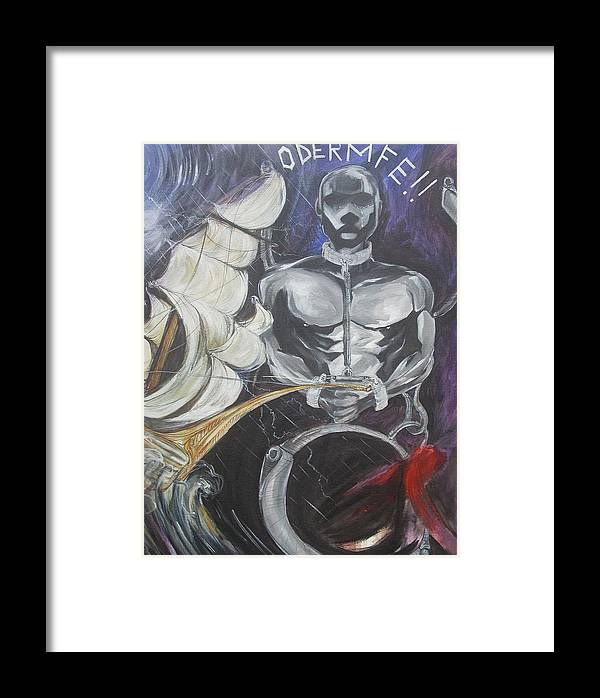 Freedom Framed Print featuring the painting Freedom by Hasaan Kirkland
