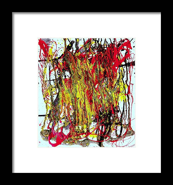 Mixed Media Prints Framed Print featuring the painting Freedom Marchers by Teo Santa